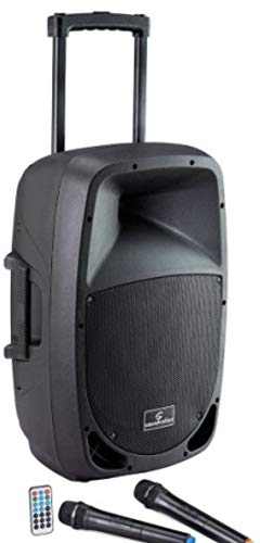 Go-sound 12amw pa portatile a batteria soundsation mp3 bluetooth diffusore amplificato con 2 radiomicrofoni