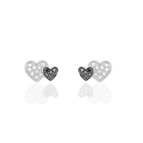 HISTOIRE D'OR - Boucles d'Oreilles Or Blanc Diamant - Femme - Or blanc 375/1000