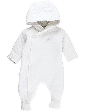 Fixoni Baby Unisex Overall mit Kapuze und Füßchen, 80% Baumwolle, 20% Polyester, Größe: 50, Farbe: Elfenbein,...