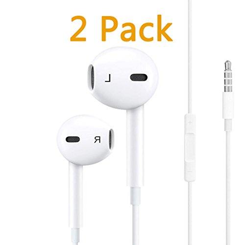 CameronDiaz kompatible Kopfhörer mit Mikrofon Stereo Ersatz für Apple iPhone 6 Plus/6S/6S Plus/5S/5/4S/4/iPad/iPod und mehr (weiß) 5