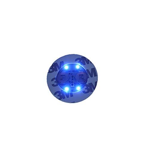YUnnuopromi Lumineux Bouteille Potable Stickers Dessous-de-Verre lumière LED Tasse Autocollant Tapis de Bar Club fête Dessous de Verre Décor Bleu