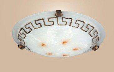 Griechische Muster (Deckenleuchte Etrusco Griechisches Muster / bronzefarbig E27 1x MAX 60W)