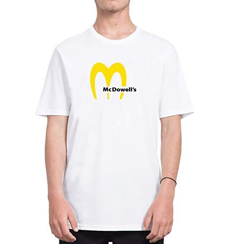 McDowells American Funny Brand Mix Junk Food_CFS3176 Tshirt T-Shirt Shirt Men Man Men's Shirts Tshirts, XL White Men Junk-food-print-pullover