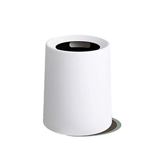 pung Offenen Oben Abfalleimer, Papierkorb Papierkorb Für büro, Badezimmer, Wohnzimmer und mehr Abfallbehälter-Weiß 8L ()