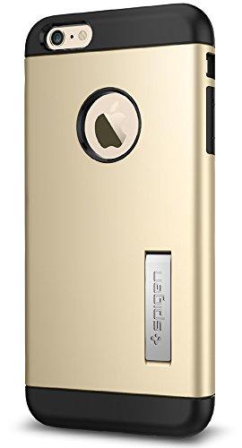 Custodia iPhone 6S Plus, Spigen Custodia iPhone 6 Plus [Slim Armor] Angoli Tecnologia a cuscino daria [Gunmetal] Slim Fit Dual Layer Kick-Stand Protezione Cover iPhone 6S Plus / 6 Plus (SGP11651) Champagne