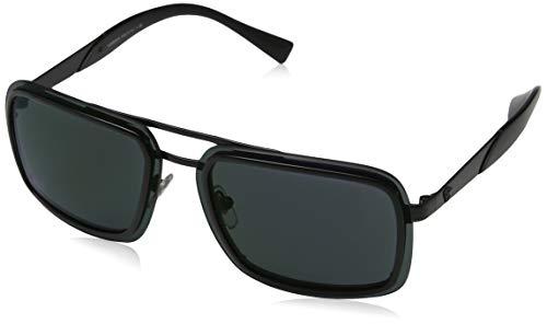 Versace Herren 0VE2183 1009C0 63 Sonnenbrille, Schwarz (Black/Darkgreymirrorgreen),