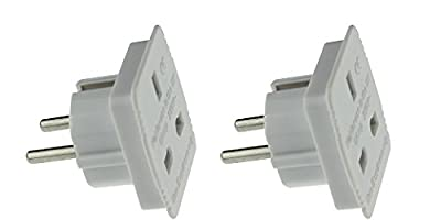 High Grade - Travel Adapter Converts UK Plug to 2 pin (Round) EU Plug and UK TO USA ADAPTER- AAA Products®