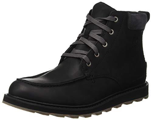 Sorel madson moc toe waterproof, stivali classici uomo, nero (black, dark grey 010), 45 eu