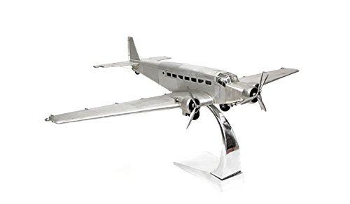 Flugzeugmodell JU 52 Junker aus Metall Exklusives und schönes Modell für den Schreibtisch und perfekt als Geschenkidee + Brillibrum Flyer