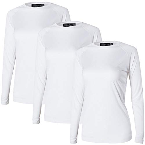 Jeansian Mujer Proteccion Solar UPF 50+ UV Camisetas Outdoor Workout  T-Shirt 3  a72e801c95343