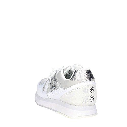 Donne Bianco Tokyo W Sneakers S8907 Basse Silver Lotto Cuneo rwfYSr