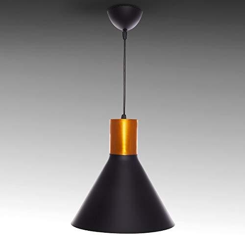 Greenice | Lámpara Suspendida Aluminio Ø 250Mm (Sin Bombilla) Negro Angelina | Sin Bombilla