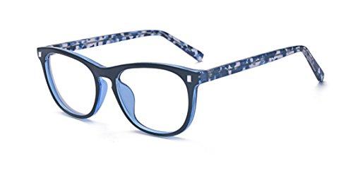 ALWAYSUV Blaulicht-Blockierende Linse Brille Anti Müdigkeit/UV für Smartphone/Computer/TV Brillenfassung