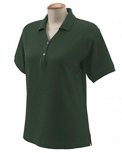 Devon & Jones Mesdames» Pima piqu? T-Shirt y-collar Polo à manches courtes forêt