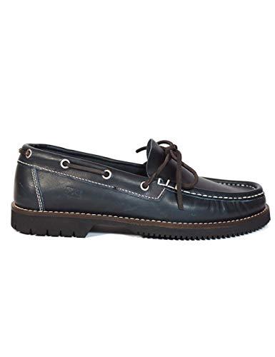La Valenciana Zapatos para Hombre Fabricados en España de Piel Náuticos Fluchos 156 Marino - Color...