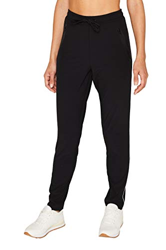 ESPRIT Sports Damen Pants wv sl Sporthose, Schwarz (Black 001), W(Herstellergröße: S)