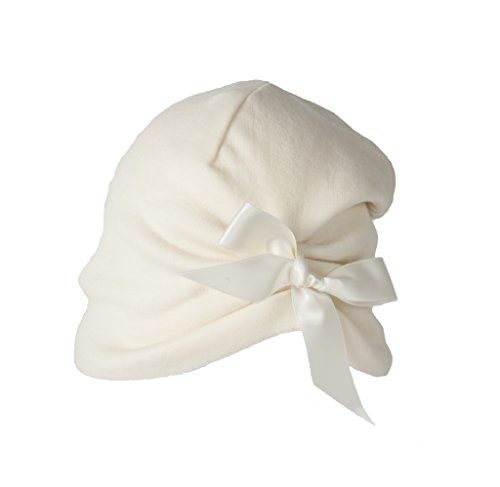 Super Yellow Girls Mimi Merino Beanie-Off-White One Size