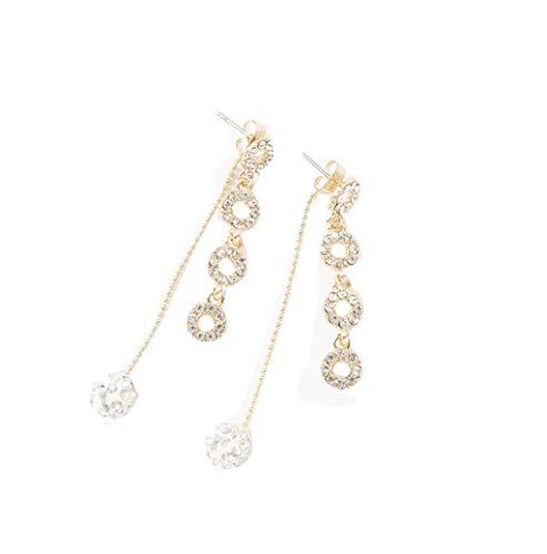 Mypace 925 Silber Gold Set Creolen hängende Ohrringe Für Damen Mode tTend Lange Quaste Kreis Ball Quaste Ohrringe Schmuck