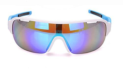 KnSam Winddicht Uv-Beständig Schutzbrille Baustelle Kratzfester Scheibe Panoramablickfeld Blau Schutzbrille