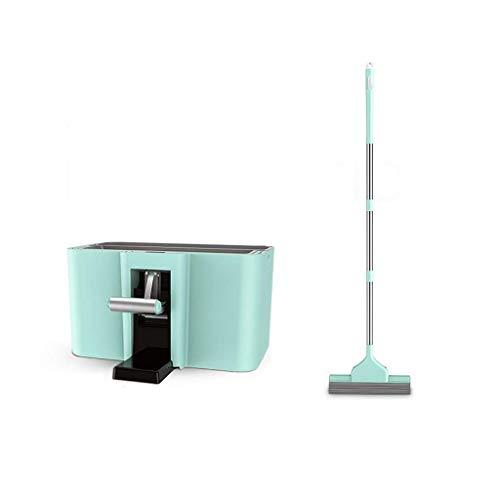 Mop profonda spinning pulizia e secchio set di pulizia umido e secco a doppio uso multifunzionale delle famiglie appendibile (colore: verde) -green