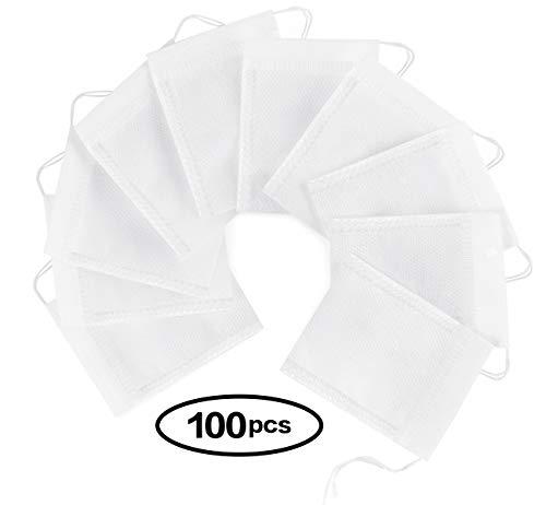 ilauke 100tlg Teebeutel feine Teefilter Selbstbefüllbar Einweg 7x 9cm für Tee Obsttee Teeblumen Gewürz Kräuterpulver