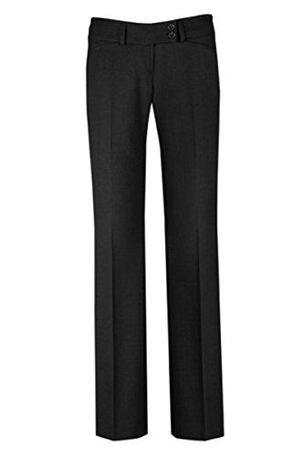 Zwei Falte Hose (GREIFF Damen-Hose Anzug-Hose PREMIUM regular fit - Style 1352 - schwarz - Größe: 38)
