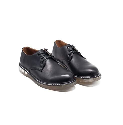 FUAOVHI Männer Lace-Up Chelsea Boots, Office Business-Partei-Hochzeit Runde Toe Wingtip Formal Brogues Schuhe UK Größe,Black,43EU (Schuhe Cowboy-wingtip)