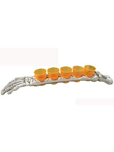5 verres à shooter avec plateau bras 48 cm Halloween - taille - Taille Unique - 236169
