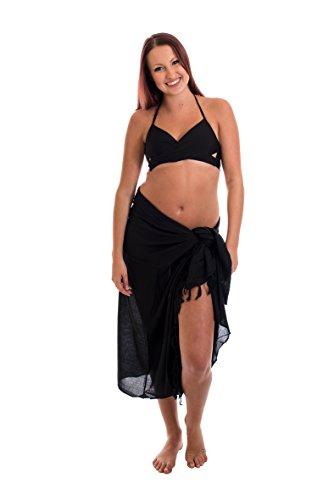 Ca 60 Modelle Sarong Pareo Wickelrock Strandtuch Tuch Wickeltuch Handtuch Bunte Sommer Muster Set Gratis Schnalle Schließe Schwarz Uni