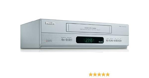 certificata e General Rigenerato Philips VR 550/HIFI Video Recorder Argento