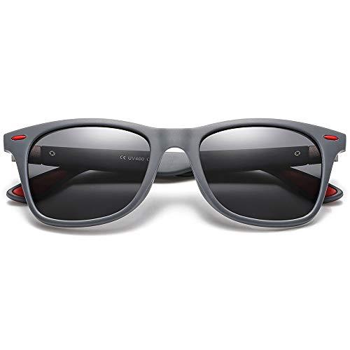 xinzhi Polarized Sonnenbrillen, Retro Driving Glasses Herren-Sonnenbrillen Fashion Goggles Scrub Polarized Sonnenbrillen - # 1, Sand Grey Frame Grey