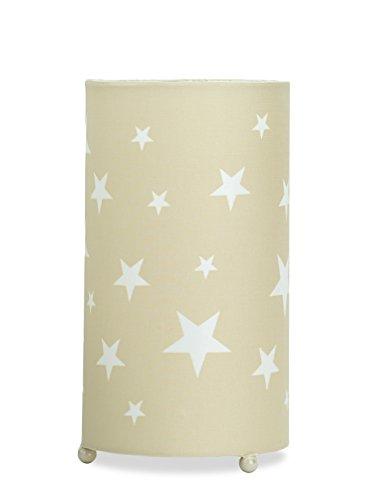 Aratextil Martina Lampe de Table, Coton, Beige, 24.5 x 13 cm