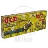 DID 520 VX2 Cadena para motocicleta, 120 eslabones (X-ring gold), con cierre de remaches