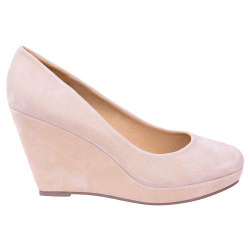 Donne Scamosciata Crema Pelle La Delle Carne Color In Moda Pantofole Sete 6qn7T4v