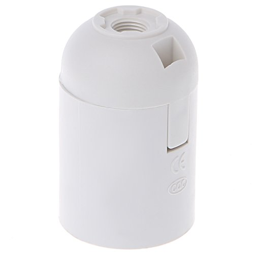 Enyu E27 Edison Lampe Lampenfassung Fassung, Weiß/Schwarz weiß