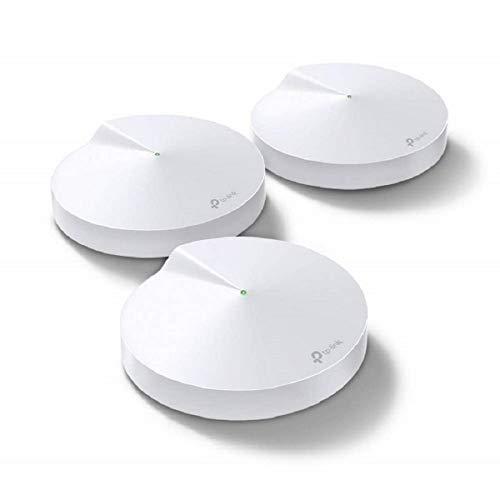 TP-Link Deco M9 Plus Mesh WLAN Router AC2200 Triband WLAN-Heimnetz-Komplettlösung (Abdeckung bis zu 600m², passt in jeder Art von Zuhause, 2x Gigabit Ports, 3pack) weiß -