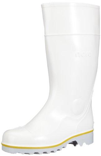 Nora Ralf 72257, Stivali da pioggia unisex adulto, Bianco, 49/50
