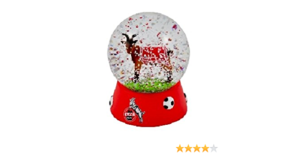 1 plus Lesezeichen I love Köl Schüttelkugel Hennes FC Köln Schneekugel Mini