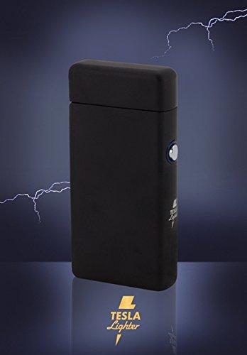 Tesla Lighter T08 Lichtbogen Feuerzeug USB Feuerzeug Arc Lighter elektronisches Feuerzeug wiederaufladbar Double-Arc Schwarz matt - 2