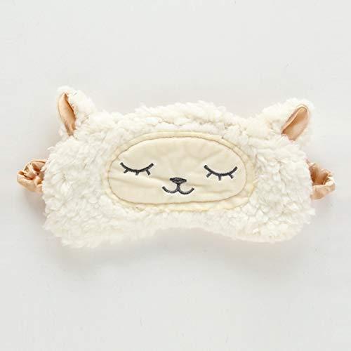 xinyus Schlafmaske aus Plüsch, Schafe, Tiere, flauschig, für Reisen, Schlafen, Augenbinde im feinen Stil White. - Flauschige Schaf Kostüm