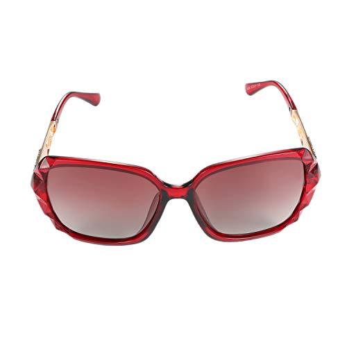 Aroncent Damen Outdoor-Sonnenbrille, polarisiert, UV-Schutz 400 Strahlschutz, Farbe wählbar rot