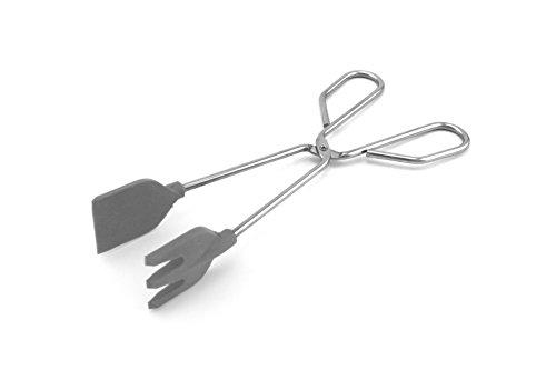 Fackelmann 00040 - Pinzas de cocina con palas de silicona