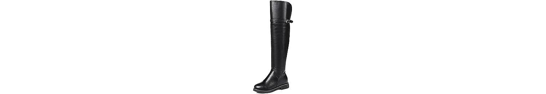 ZHZNVX HSXZ Zapatos de Mujer Moda Otoño Invierno Piel Sintética PU Botas Botas de Tacón bajo Ronda Toe Rodilla... -