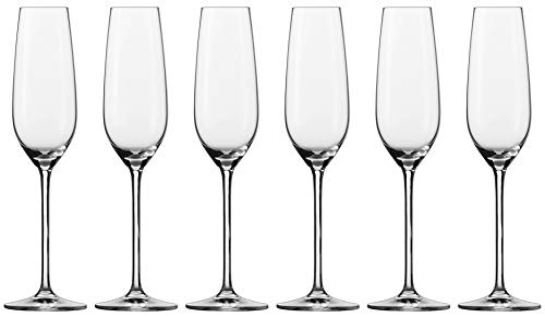 Schott Zwiesel FORTISSIMO Sektglas, Glas, transparent, 26 x 18 x 27.3 cm, 6-Einheiten