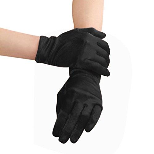 Kurz Brauthandschuhe Fingerhandschuhe Hochzeithandschuhe Kostümhandschuhe Handschuhe für Hochzeit Abend Party Abschlussball
