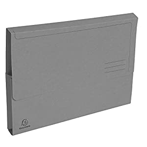 Exacompta - Forever - Pack of 50 A4 Document Folders - 290 g/m² - 24 x 32 cm 24,5x32,5 Gray