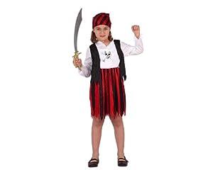 Atosa-70103 Disfraz Pirata Rojo 5-6, Color marrón, 5 a 6 años (70103
