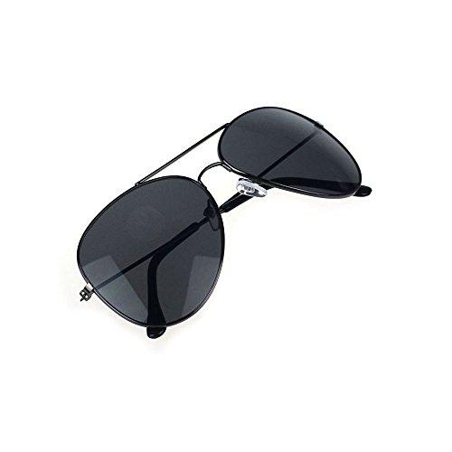 Holeider 2018 Neue Sonnenbrille Frauen Männer, Unisex Männer Frauen Klassische Metall Designer Sonnenbrillen + Fall (Schwarz + Grau)