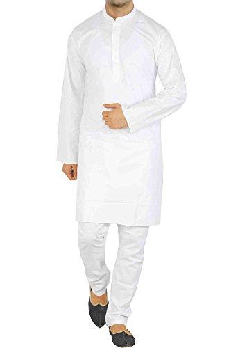 Vastramay Men's Cotton Silk Kurta & Pyjama Set