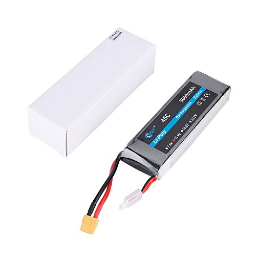 fgjhfghfjghj 11.1V 5000mAh 45C XT60 Plug Connector Li-Poly Rechargable Battery 8048145B for RC Helicopter Qudcopter Drone Truck Car Boat